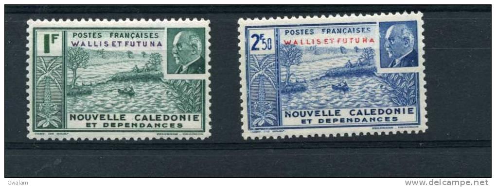 WALLIS ET FUTUNA Sèrie Complète 2t Neufs Xx  N° YT 90 91 - 1941 - Wallis Y Futuna