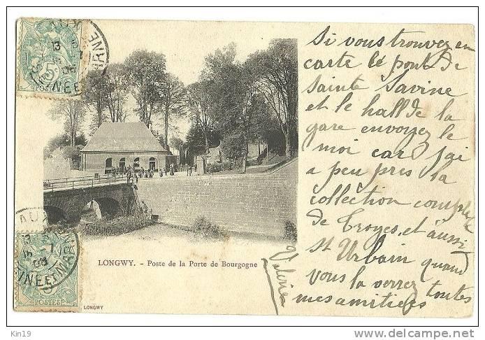 -CPA 54-LONGWY  POSTE  DE LA PORTE DE BOURGOGNE-1905-TROUPE MILITAIRES SOLDATS MILITARIA - Longwy