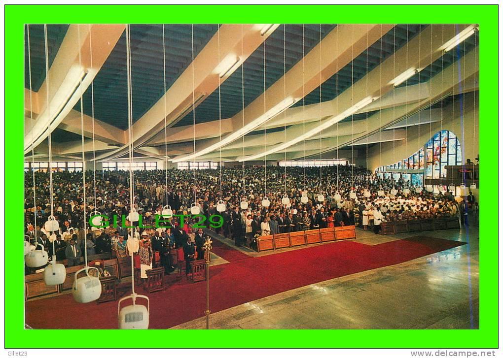 ABIDJAN, CÔTE D´IVOIRE - CATHÉDRALE SAINT-PAUL - CONSÉCRATION PAPE JEAN-PAUL  II EN 1985 - L'ILLUMINATION - - Côte-d'Ivoire