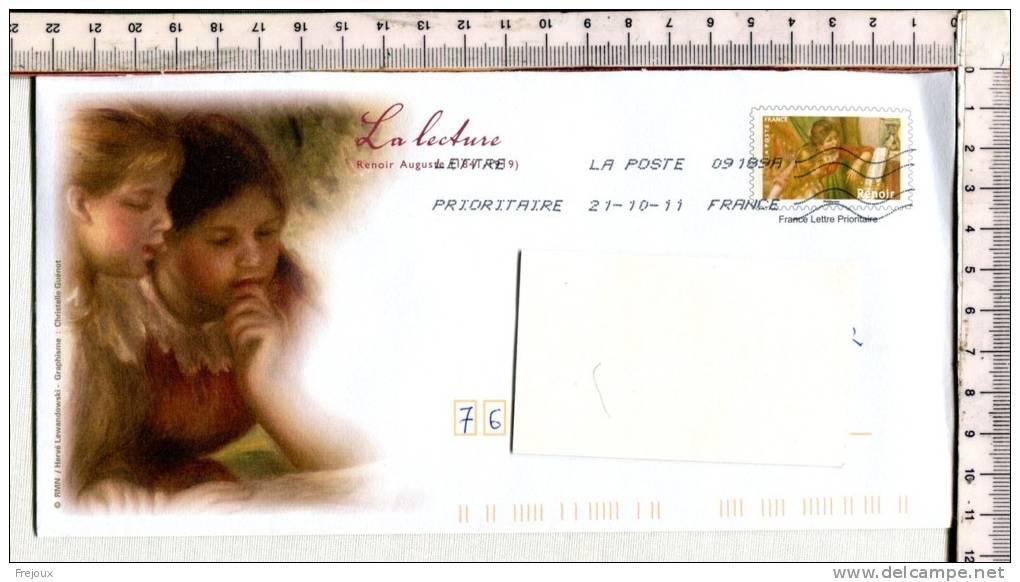 ENVELOPPE PRE TIMBREE -  OBLITEREE  -  Illustration  Et  Timbre  LA LECTURE  - - 1989-....