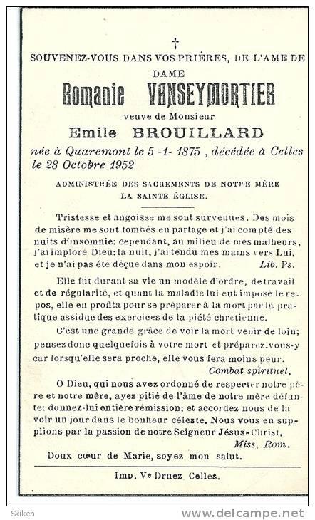 QUAREMONT  CELLES  ROMANIE  VANSEYMORTIER  5.01.1875 - 28.10.1952 - Cachets Généralité
