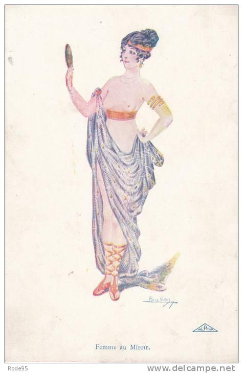 ILLUSTRATEUR RENE GILLLES FEMME MIROIR - Before 1900