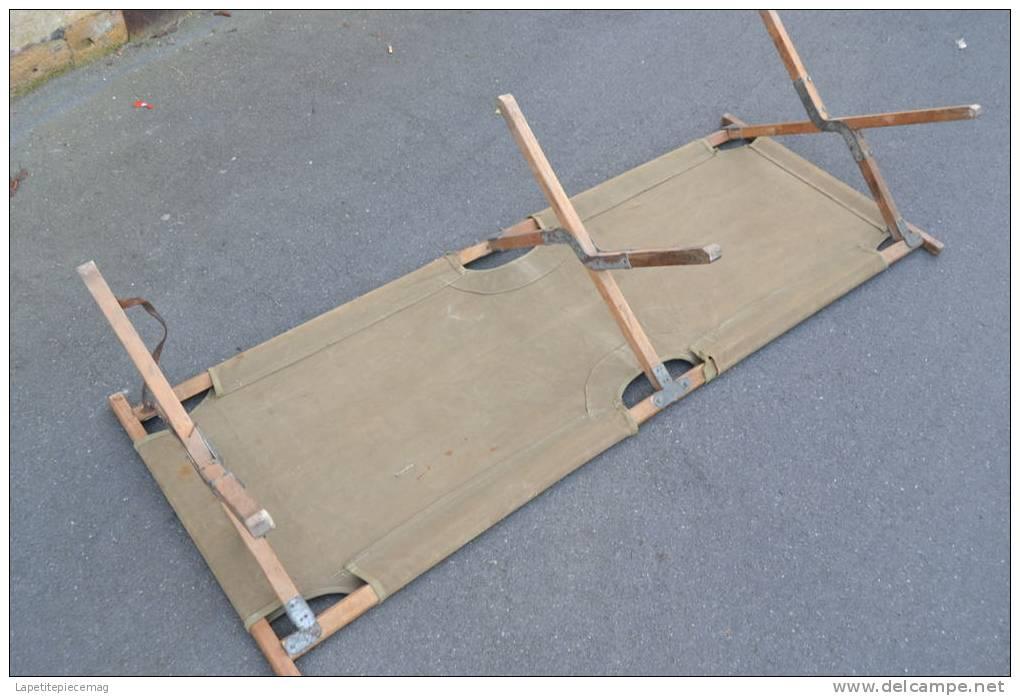 lit de camp am ricain deuxieme guerre mondiale us ww2 cot folding canvas complet en bon tat. Black Bedroom Furniture Sets. Home Design Ideas
