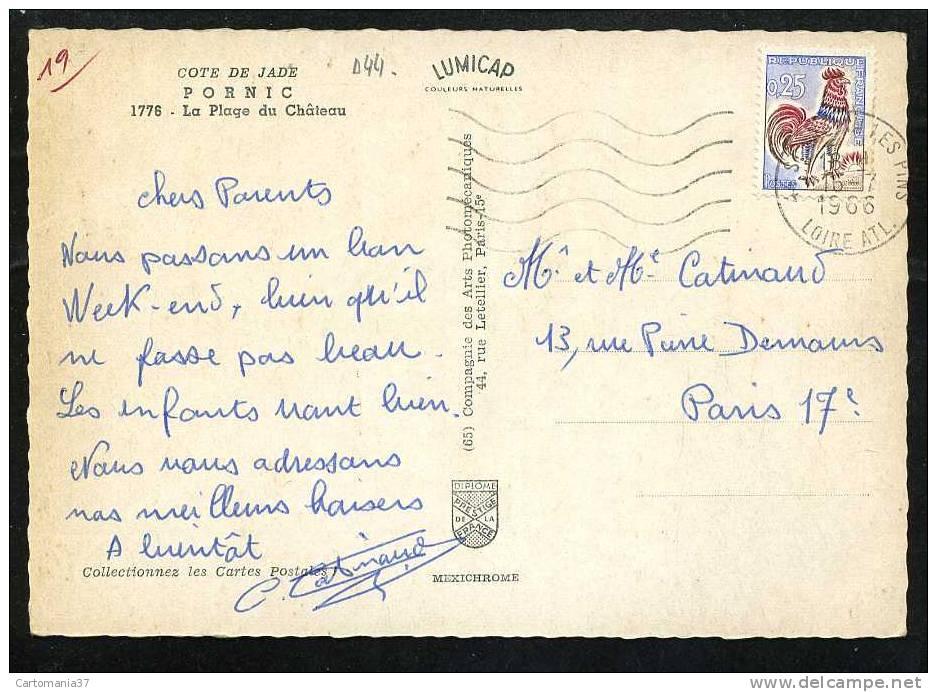 44-  1985     Pornic Plage Du Chateau - Pornic