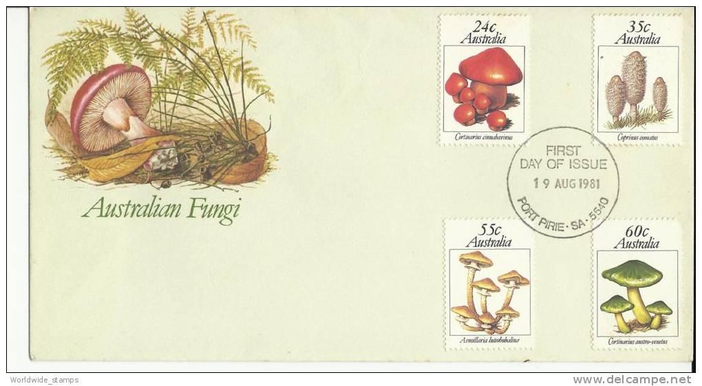 Australia, FDC, Fungi, 19 August 1981 - Pilze