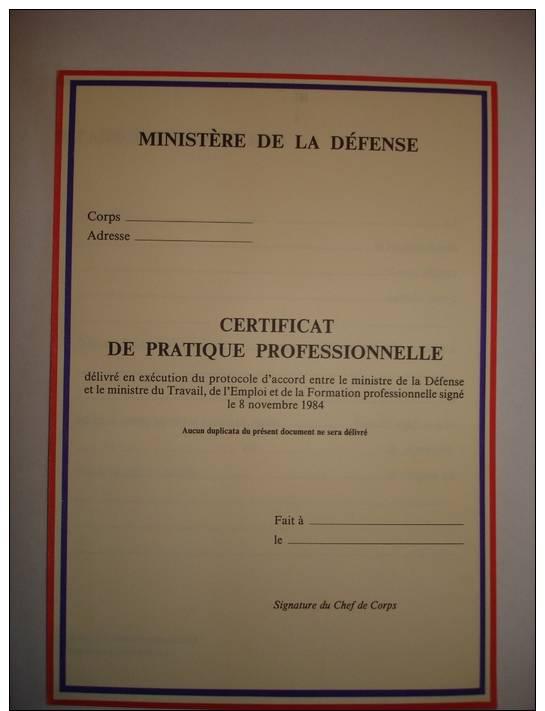 ministere de la defense certificat de pratique. Black Bedroom Furniture Sets. Home Design Ideas
