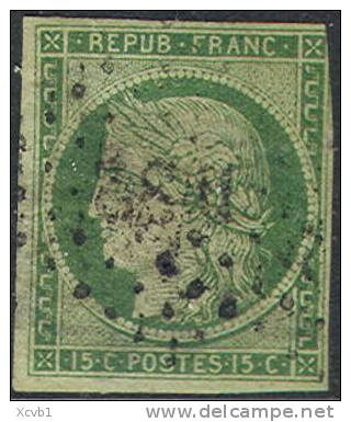 # France    2a, Used, Clean, Almost 4 Mgns. (fr002a-3,   Mich 2a  [16-IOP - 1849-1850 Ceres
