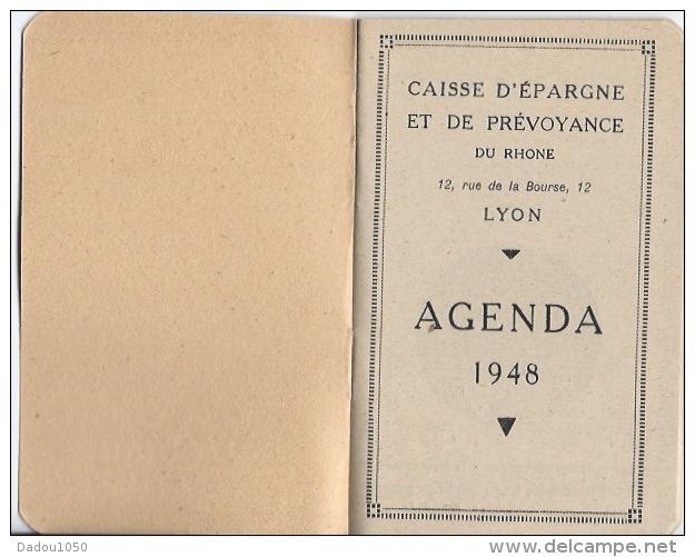 Petit Agenda 1948 Caisse D´ épargne Et De Prevoyance - Calendriers