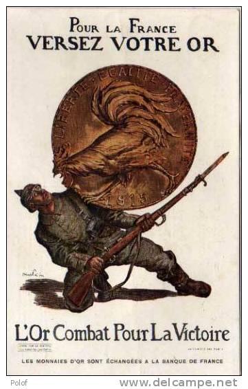 FAIVRE Abel - L' Or Combat Pour La Victoire - Soldat Et Piece De Monnaie     (29828) - Monnaies (représentations)
