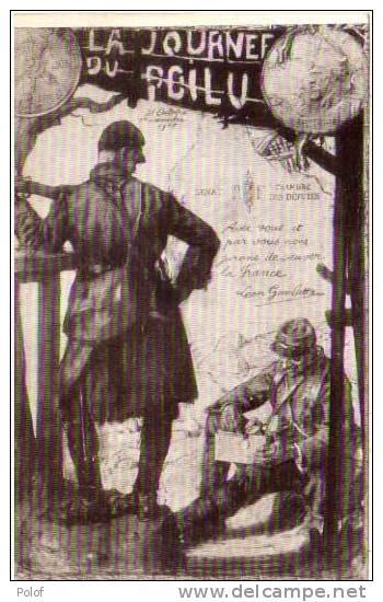 La Journee Du Poilu - Fac Simile Piece Demonnaie -soldats     (29830) - Monnaies (représentations)