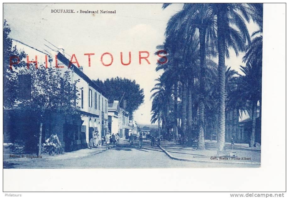 ALGERIE / BOUFARIK  -  BOULEVARD NATIONAL - Algérie