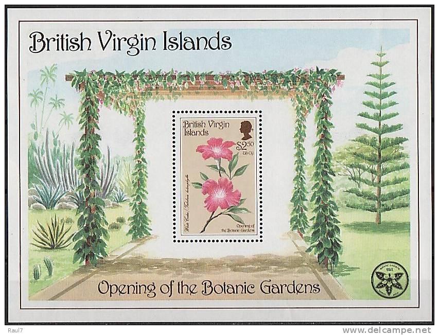 B.VIRGIN ISLANDS (Iles Vierges Brit) - Jardin Botanique - BF Neufs*** (MNH SHEET) - British Virgin Islands