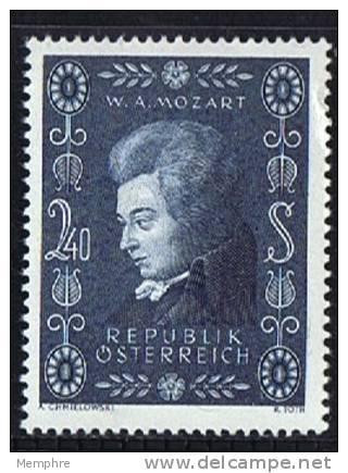1956  Mozart  **  MNH - 1945-.... 2ème République
