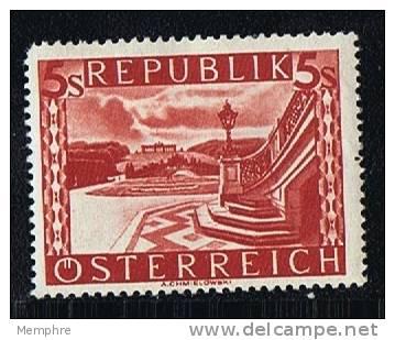 1945  Parc De Schönbrunn, Vienne  Impression Cylindrique (Walzendruck]  Mi Nr 770 II  * Mh - 1945-.... 2nd Republic