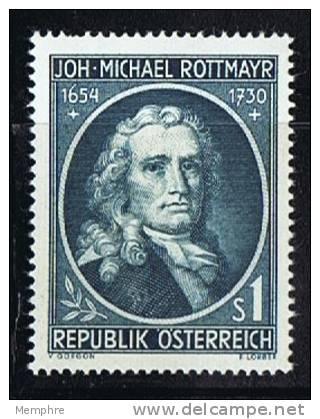 1954  Johann Michael Rottmayr, Peintre  *  MH - 1945-.... 2ème République