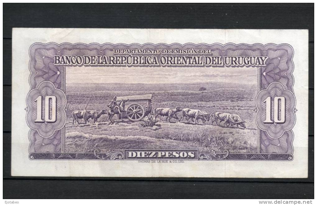 4- URUGUAY -1939 Billetes De 10 Pesos Term. 026 - Uruguay