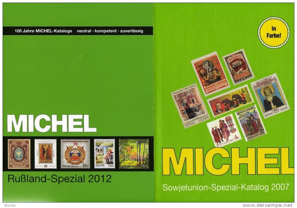 Rußland Spezial Katalog 2012+Spezialkatalog Sowjetunion Neu 217€ MICHEL A-Z With Error On Stamp Catalogue Of Russia USSR - Catalogues