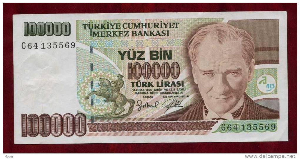 billet Turquie 100000 Lira 1997 - Delcampe.fr