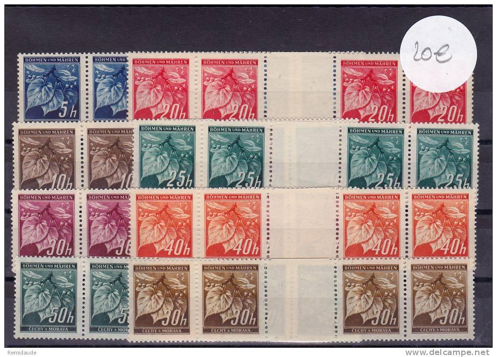 BOHEME-MORAVIE - MICHEL N° 20/26 ZW Avec INTERPANNEAU ** - COTE = 40 EUROS +++ - Neufs