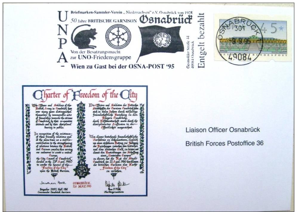 Lettre Allemagne 1995 Onu Osnabrück - UNO