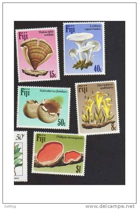 Fiji 1984 Sg670-4 FUNGI MNH CV £7.6 - Fiji (1970-...)