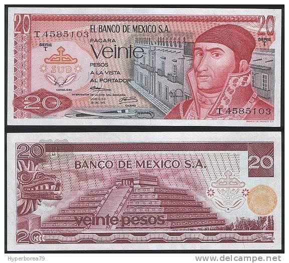 Mexico P 64 A - 20 Pesos 29.12.1972 - UNC - Mexico