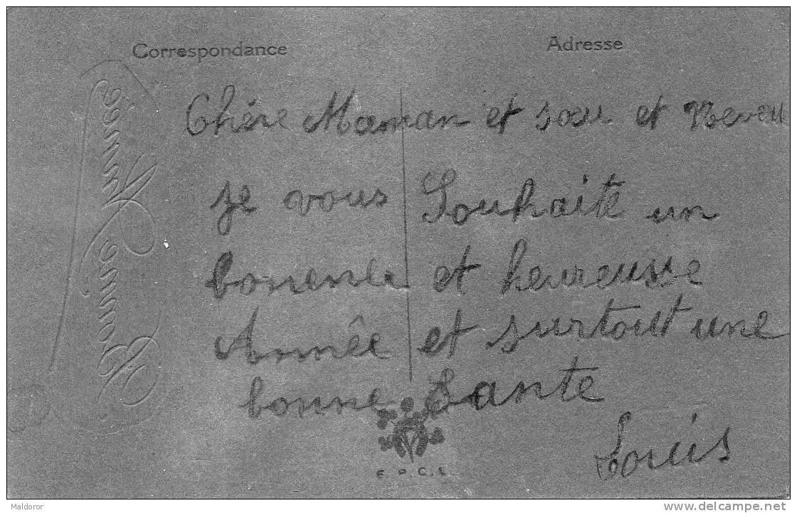F2  AJOUTI  PEINTURE Et CRISTAUX (papier Feutré)  , écrite  LOUIS  / 300 Fêtes En Boutique - Nouvel An