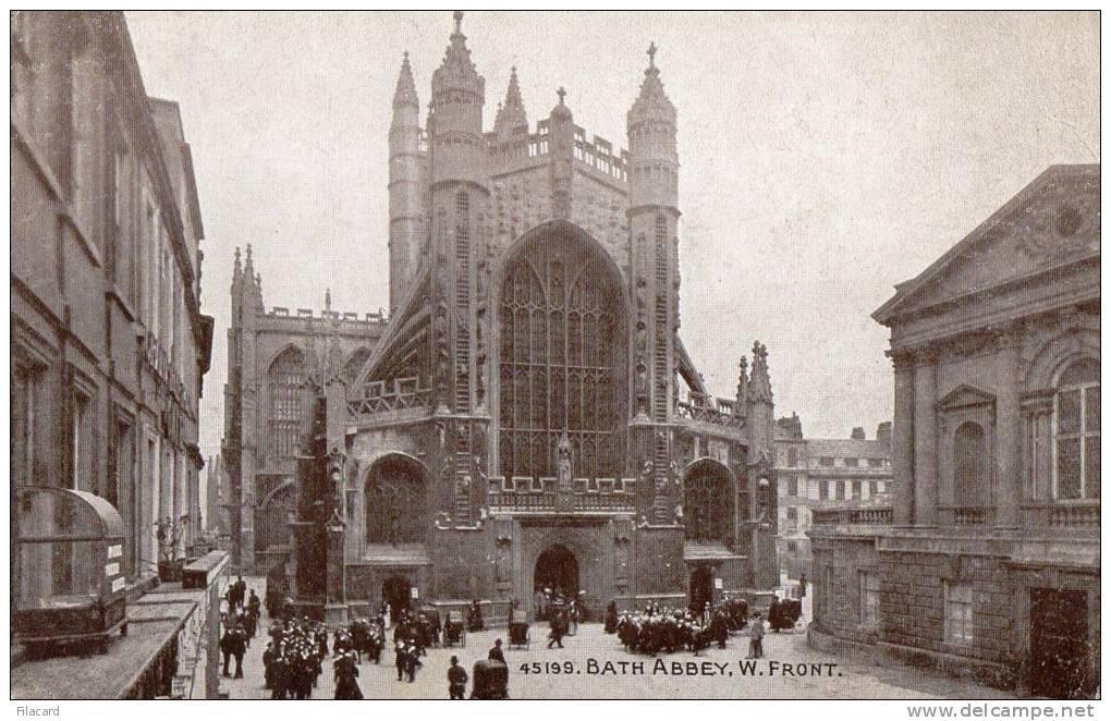 21394    Regno  Unito,  Bath  Abbey,  W.  Front,  NV  (scritta) - Bath