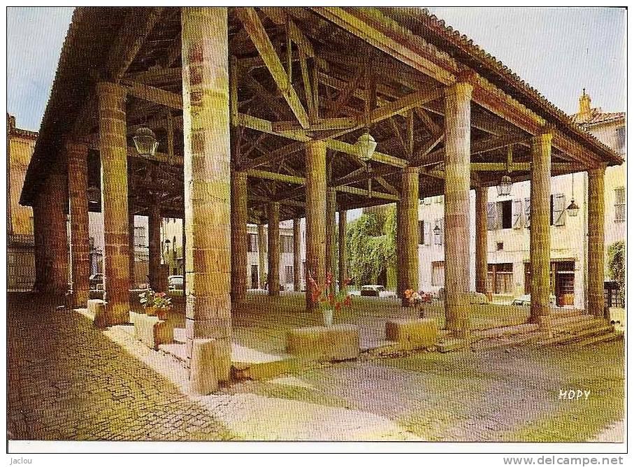 CORDES LA HALLE XIIIè SIECLE (COLORISEE) REF 23593 - Halles
