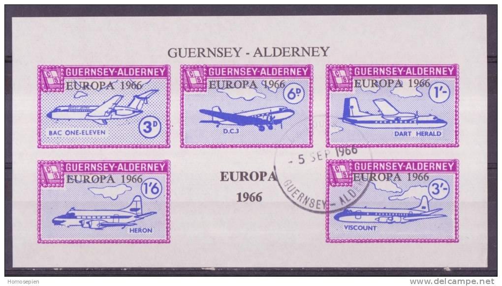 Europa Alderney - Guernesey - Guernsey 1966 Oblitéré - Used -gestempelt - Werbemarken, Vignetten