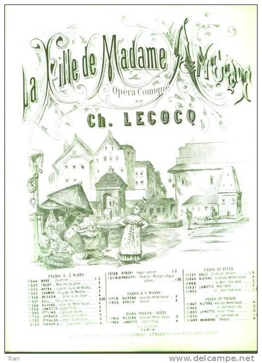 LA FILLE DE M.me ANCOT - Anni 1910 - Operaboeken