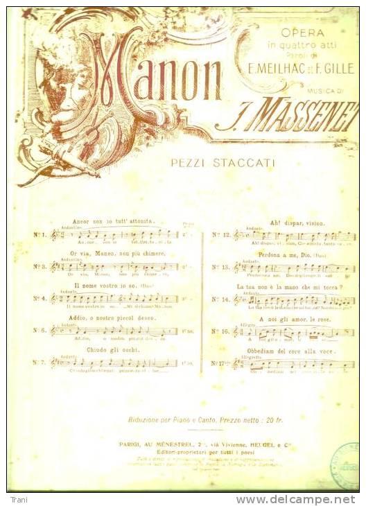MANON - MASSENET - Anni 1910 - Opera
