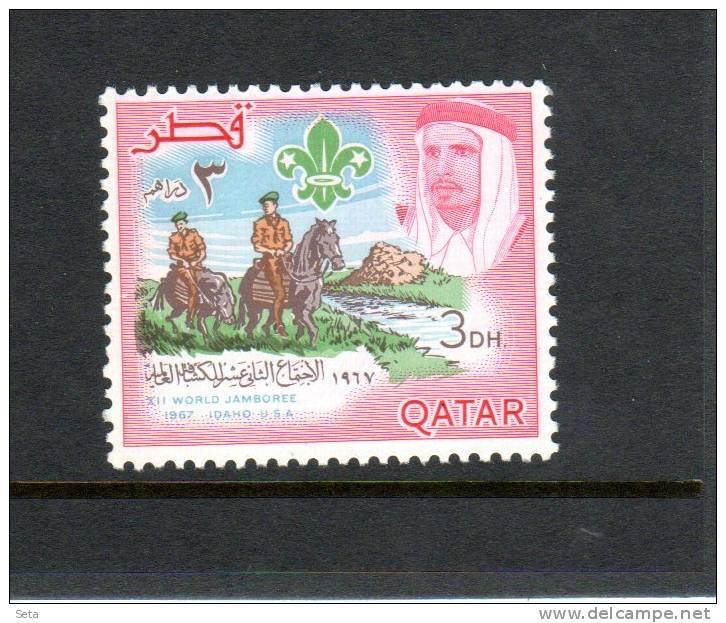 SCOUT  Of Qatar  Mint 1 Val. Idaho Jamboree - Qatar