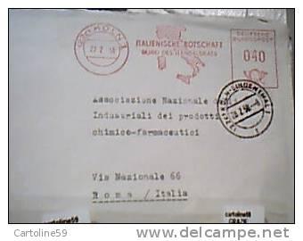 GERMANY  Rossa   CHIMICA  ITALIENISCHE BOTSCHAFT DA AMBASCIATA D'ITALAI  KOLN  VB1958  DL706 - [7] West-Duitsland