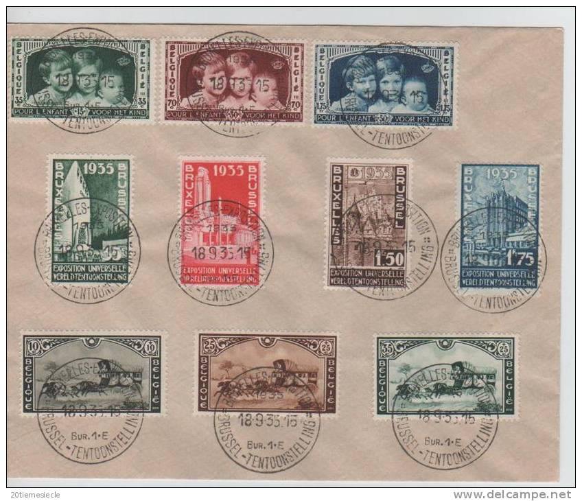 10 TP Belgique - België 1935 C.Expostion-Tentoonstelli Ng 18.9.35 AP459 - 1935 – Brussels (Belgium)