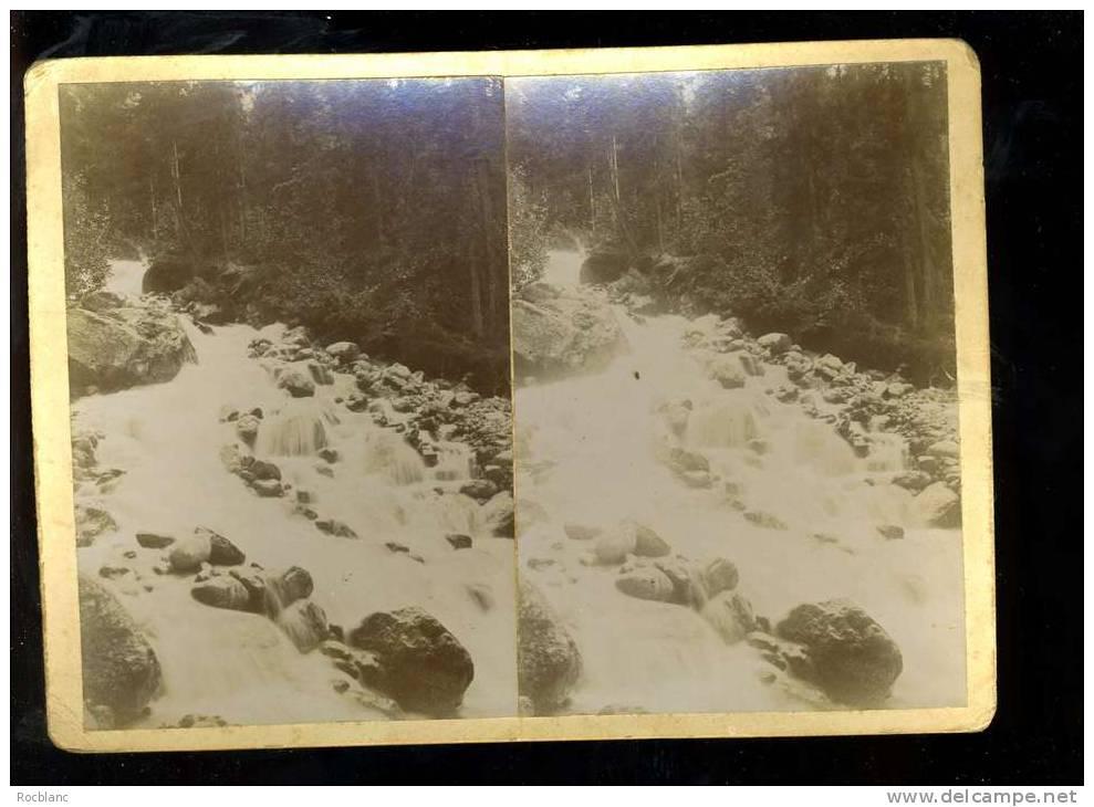 PHT4 HAUTE SAVOIE Photo Originale Fin 19 ème Siècle Format 18x13 Cascade Des Pèlerins Aux Bossons - Photos Stéréoscopiques