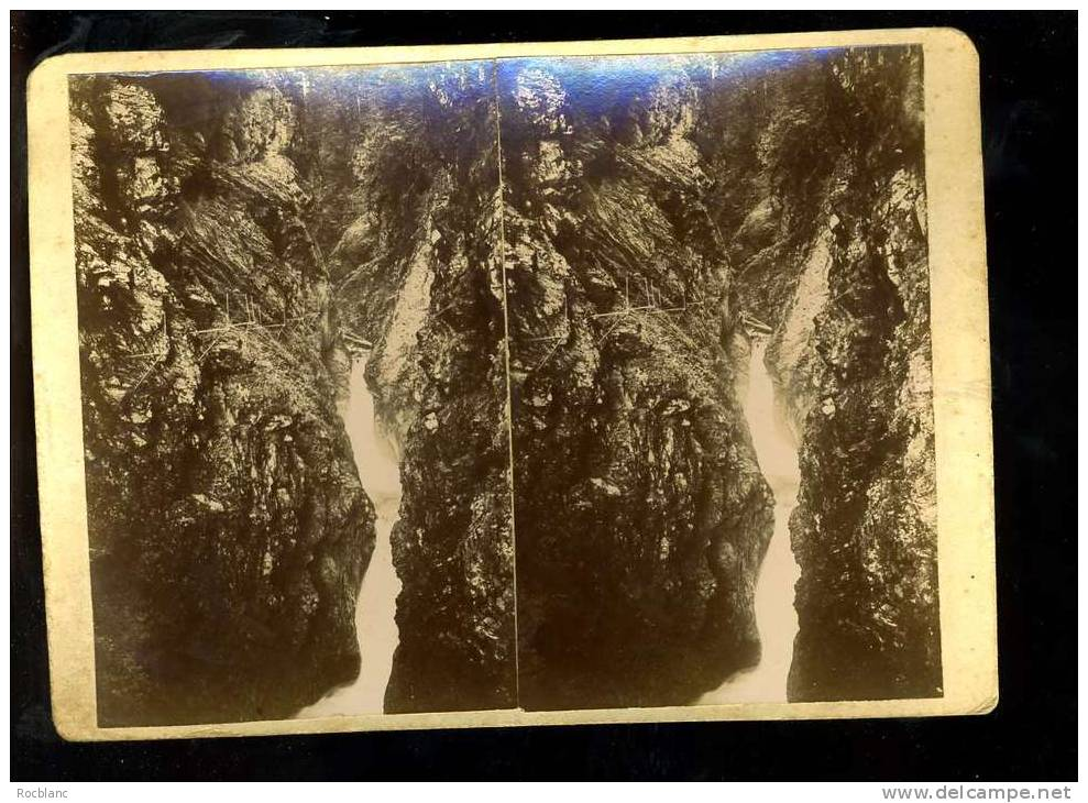 PHT4 HAUTE SAVOIE Photo Originale Fin 19 ème Siècle Format 18x13 Gorges De La Diozas - Photos Stéréoscopiques
