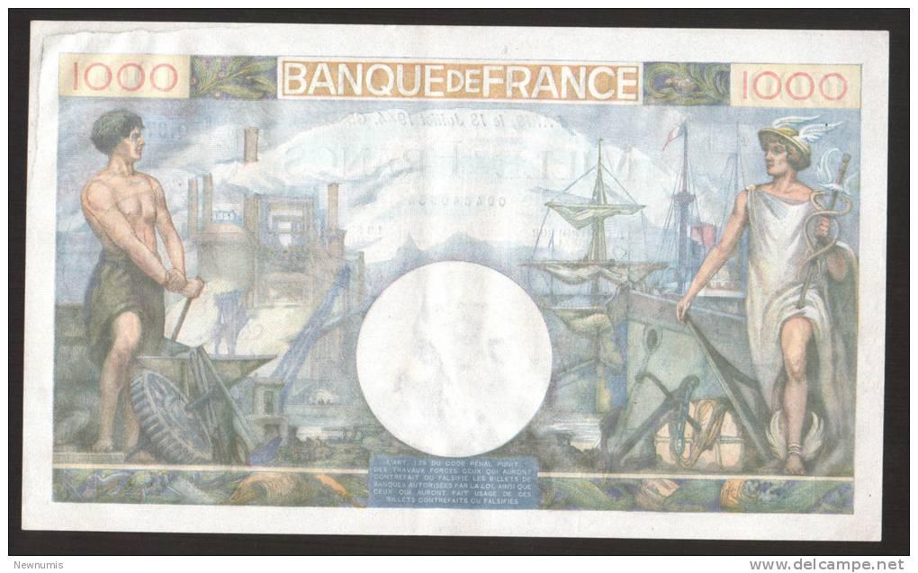 FRANCE - BANQUE De FRANCE - Lot Of 3 X 1000 FRANCS COMMERCE ET INDUSTRIE NUMEROS QUI SE SUIVENT 13 - JUILLET - 1944 GB. - 1871-1952 Circulated During XXth