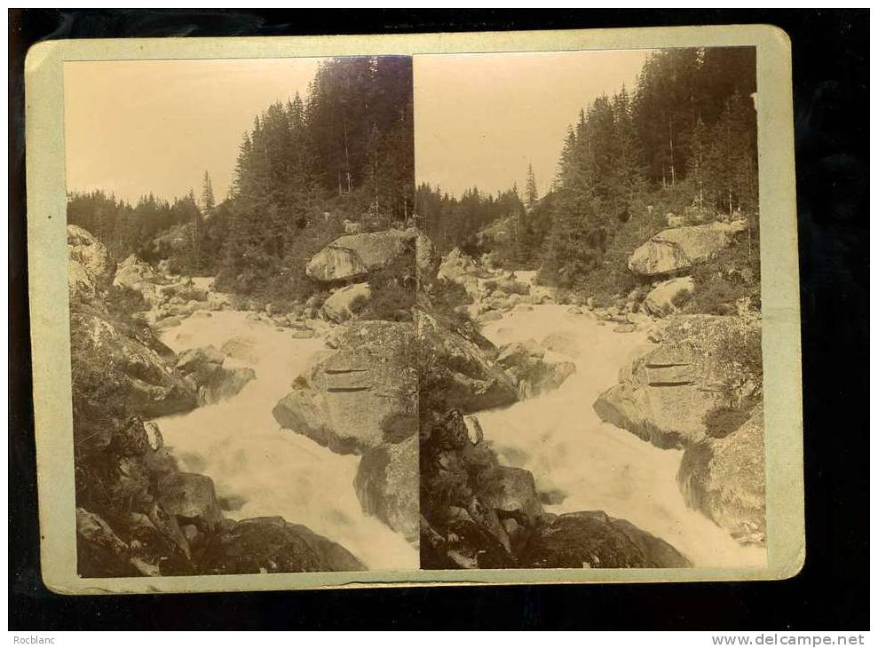 PHT4 HAUTE SAVOIE Photo Originale Datée  1903 L'Arve Aux Tines - Photos Stéréoscopiques