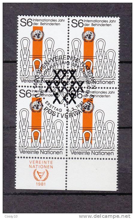 NATIONS  UNIES  VIENNE BLOC DE 1  1981   N° 18    OBLITERE    CATALOGUE YVERT - Centre International De Vienne