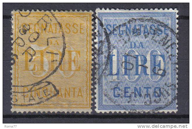 R205 - REGNO , Segnatasse La Serie N. 31/32 Usata . - 1878-00 Humberto I