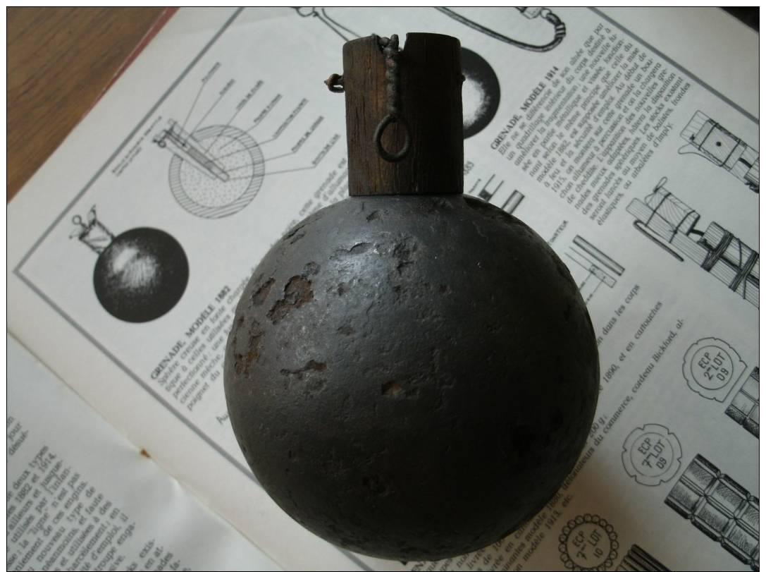 Grenade Boule Mod 1882  Ww1 Neutra - 1914-18