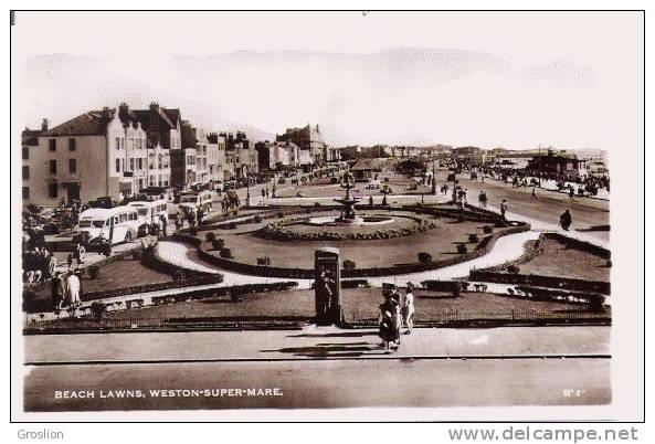 WESTON SUPER MARE BEACH LAWNS (CARTE PHOTO) - Weston-Super-Mare