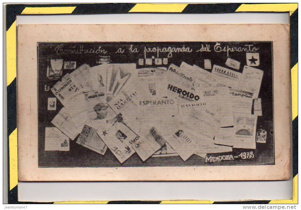 CONTRIBUCION A LA PROPAGANDA DEL ESPERANRO. MENDOZA 1938 - Esperanto