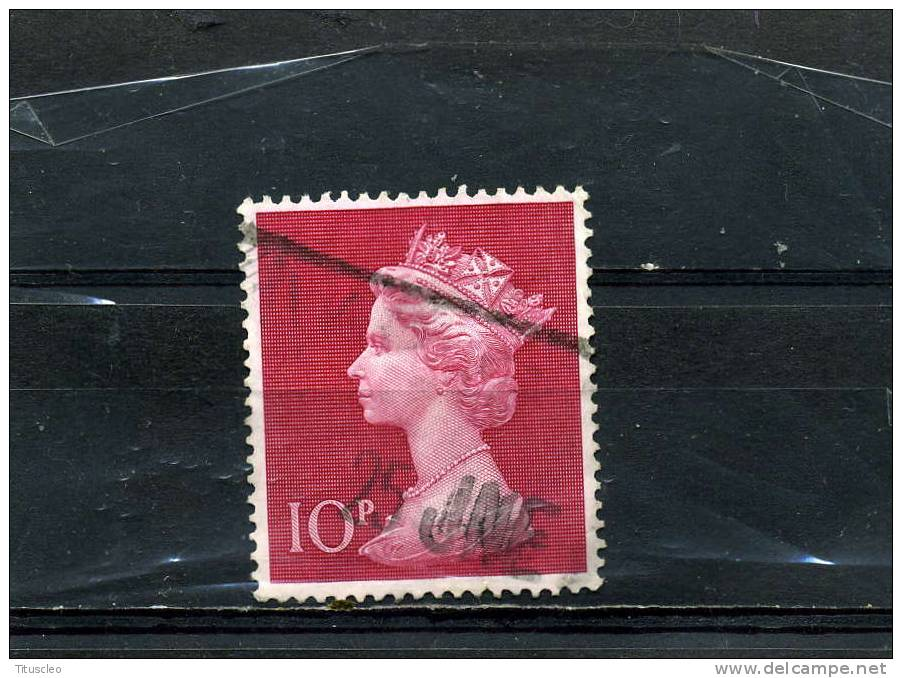 GRANDE BRETAGNE 618° 10p Carmin Elisabeth II - Machin-Ausgaben