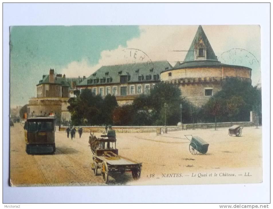 NANTES - Les Quais Et Le Chateau - Nantes