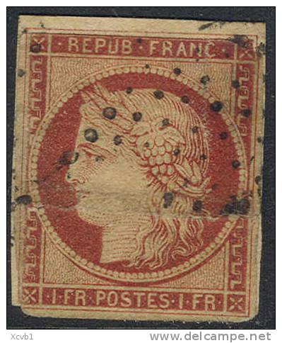 # France    9, Used,  (fr9-4,  Michel 7  [16-HTY - 1849-1850 Ceres