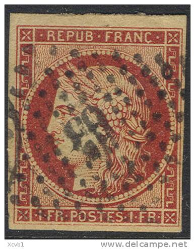 # France    9, Used,  RARE, Sound,clean, 4 Good+ Margins  (fr009-12,  Michel 7  [16-HTY - 1849-1850 Ceres