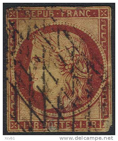 # France 9, Used, RARE, Clean(fr009c-12, Michel 7 [16-HTY - 1849-1850 Ceres
