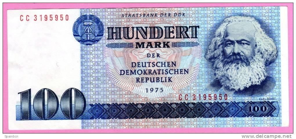 ALEMANIA GERMANY DEUTSCHLAND   - RDA / GDR / DDR  **  100 Mark / Marcos 1975  **  PICK31 A - 100 Mark